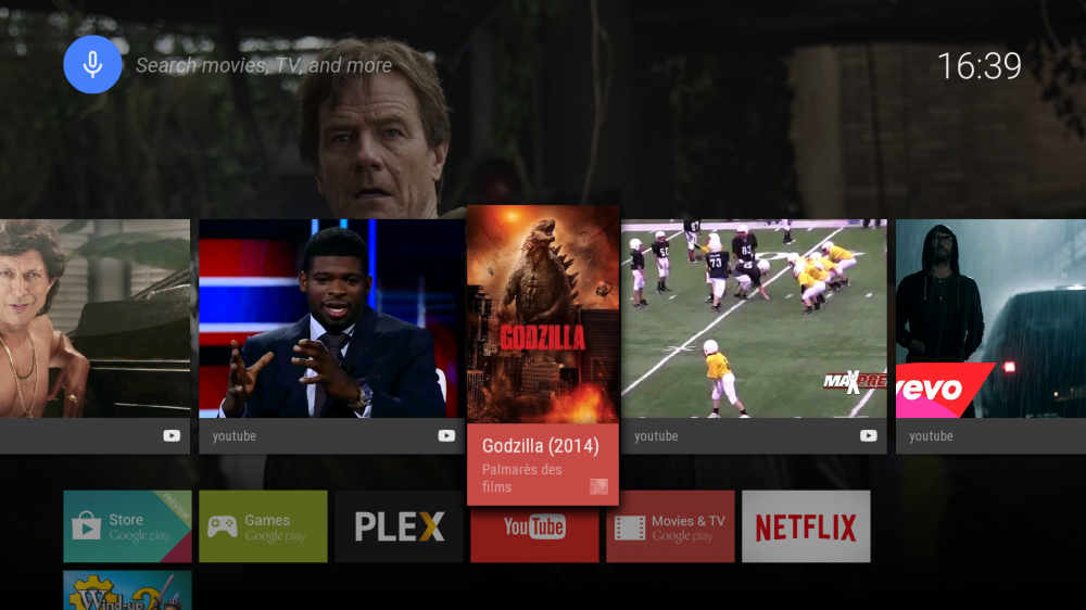 Android TV interface 2