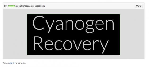 CyanogenMod Recovery