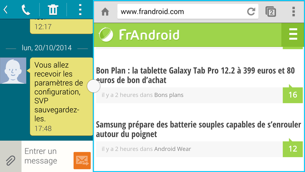 Le mode multi fen tre bient t par d faut sous android for Multi fenetre android