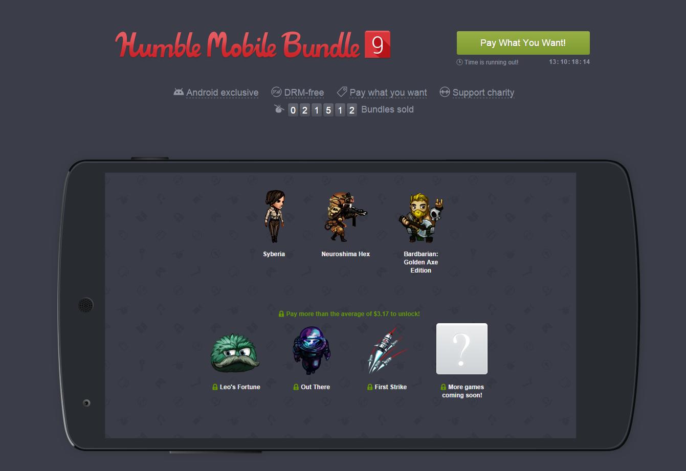 Humble Mobile Bundle 9 : le grand cru du mois d'octobre ...