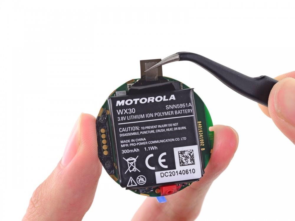 moto 360 batterie ifixit