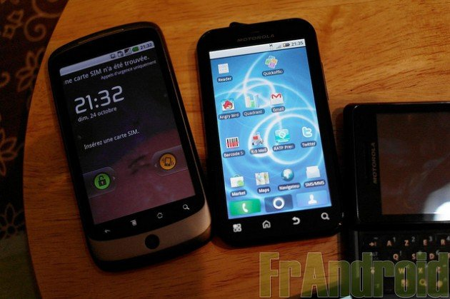 Nexus One et Motorola Defy, un beau couple !