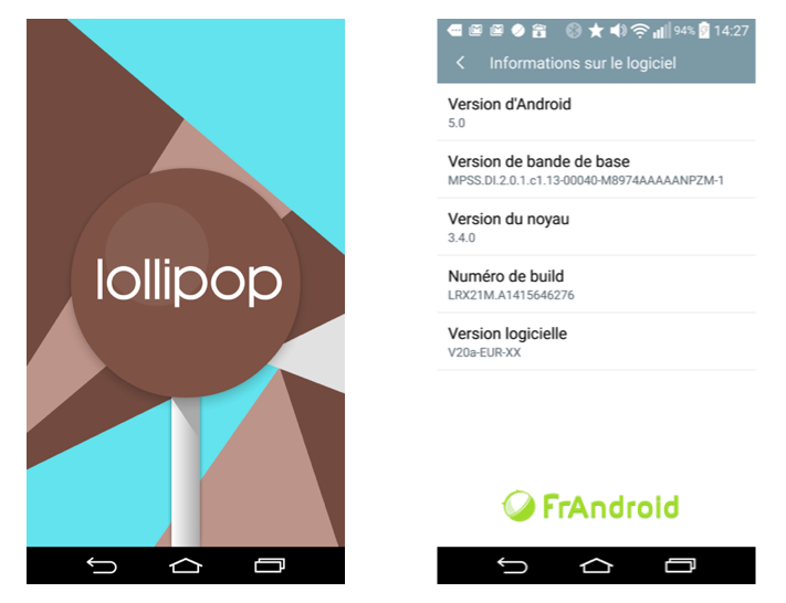 comment avoir android 5.0