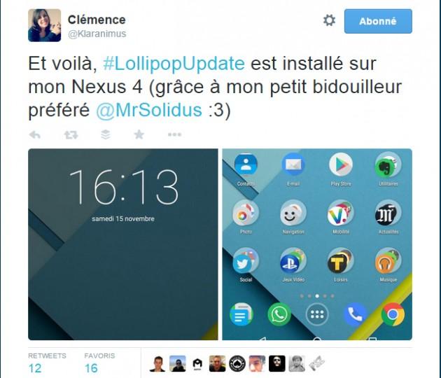 Tweet Nexus 4