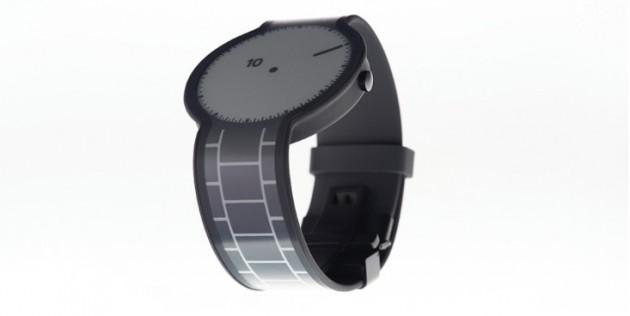 La montre FES, avec bracelet et écran e-ink