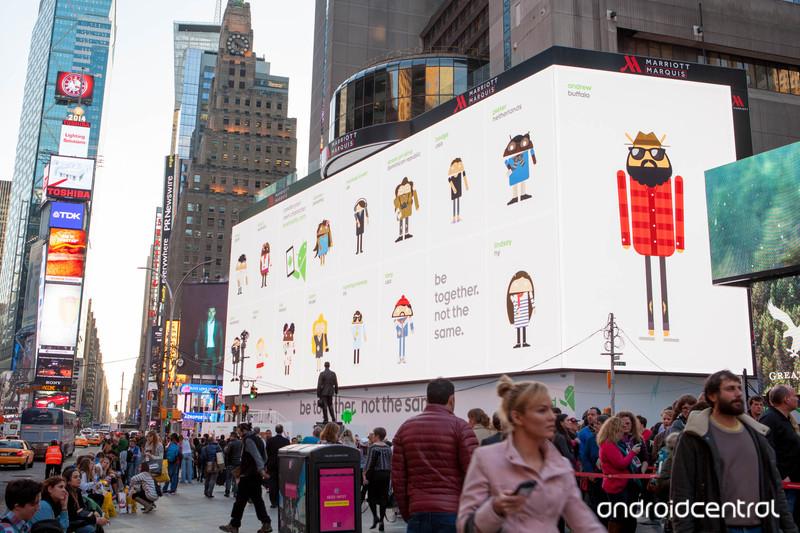 Google utilise le plus grand cran du monde pour for Photo ecran times square