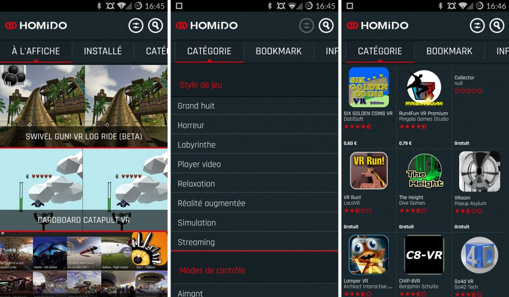 homido application android