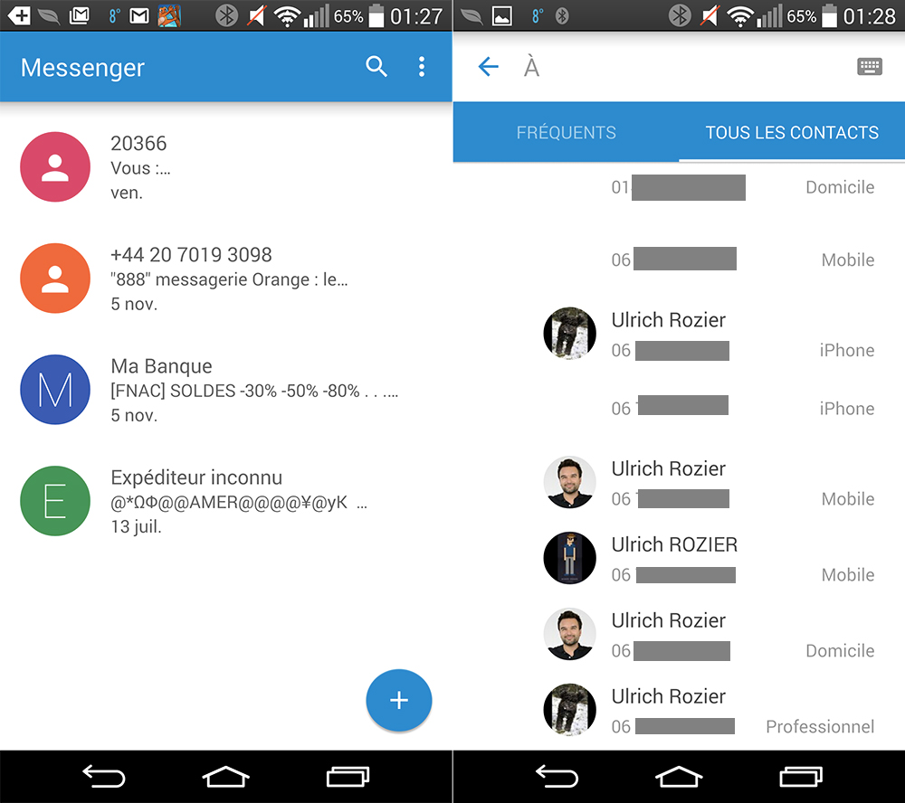how to get contacts from messenger
