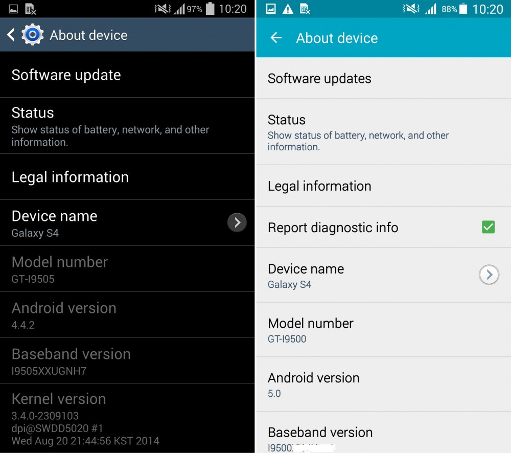 touchwizz lollipop vs kitkat 10