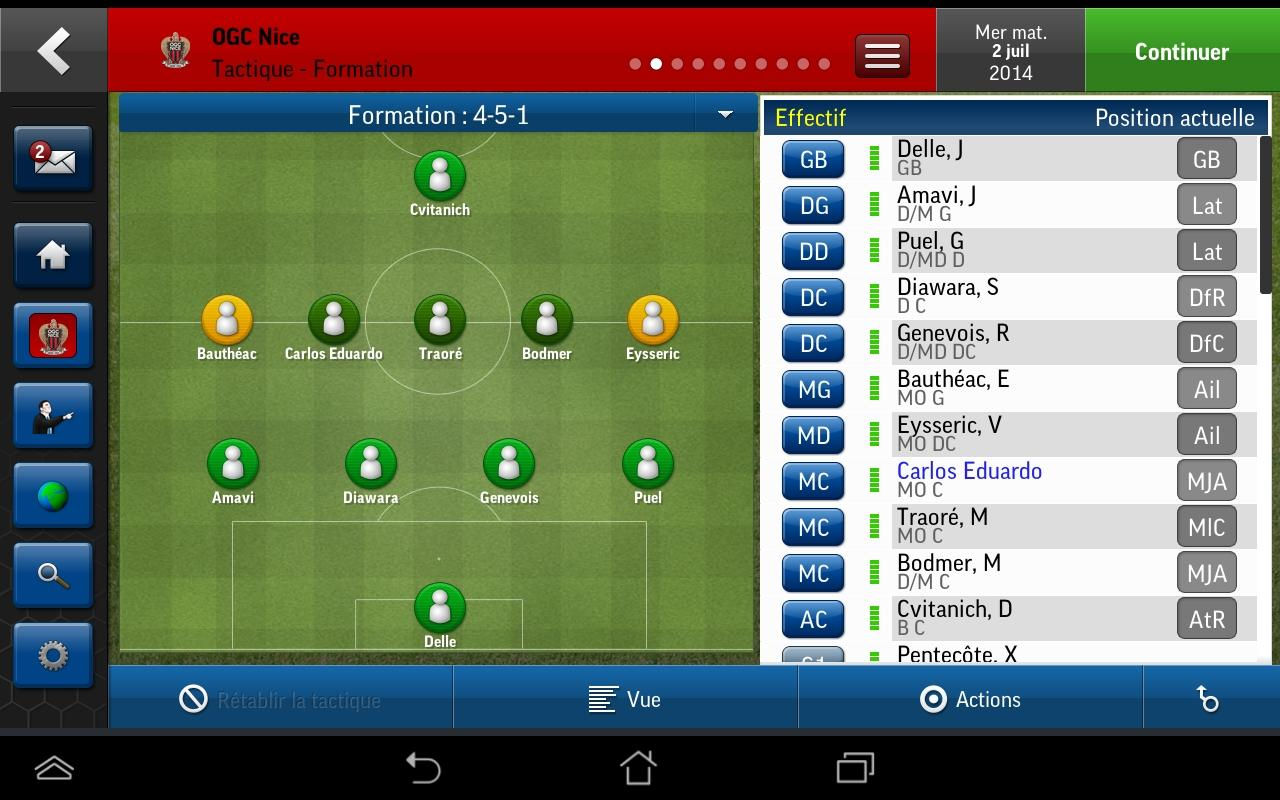 football manager handheld 2015 est arriv sur android frandroid. Black Bedroom Furniture Sets. Home Design Ideas