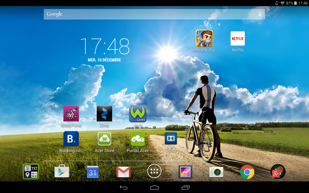 Acer Iconia Tab 10 test logiciel 5