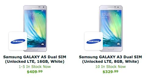 Galaxy A3 Galaxy A5 Expansys