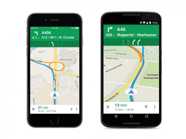 Google Maps Lane Guidance