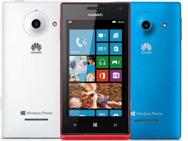 Le Huawei Ascend W1, sous Windows Phone.