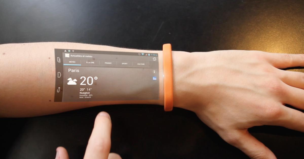 Cicret : le bracelet connecté qui permet d'afficher un écran sur son bras