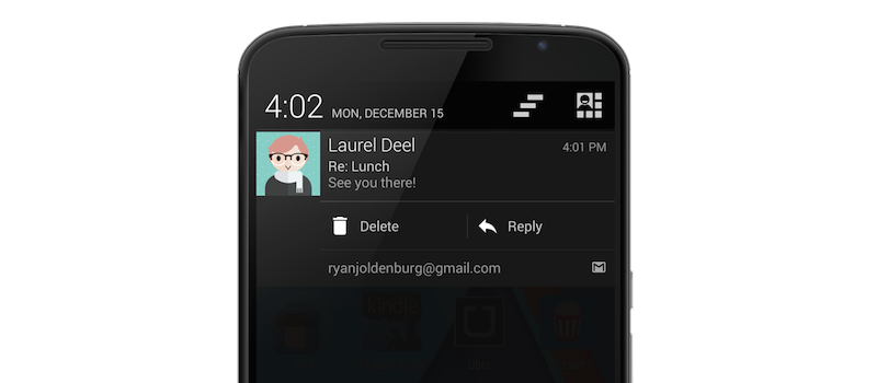 bouton action android
