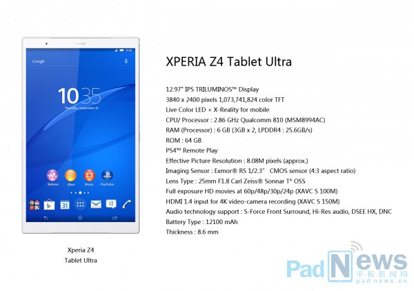 Xperia Z4 Tablet Ultra