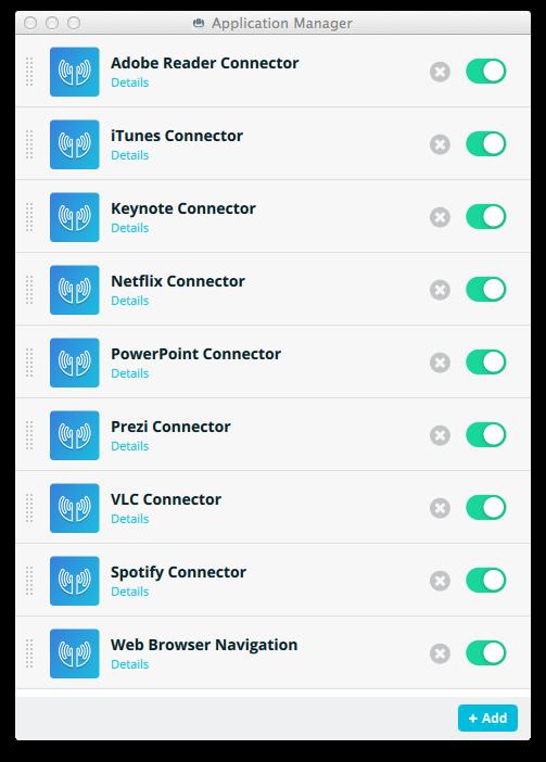 Les connecteurs disponibles