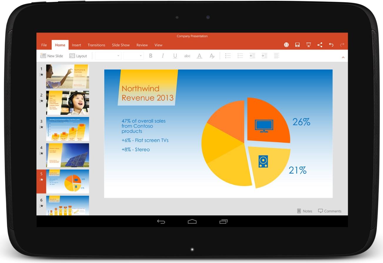 La suite microsoft office pour les tablettes android est d sormais disponible en version finale - Office tablette android gratuit ...