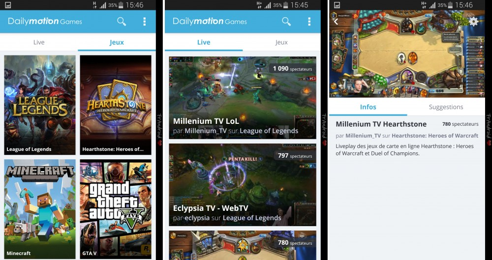 dailymotion games appli android