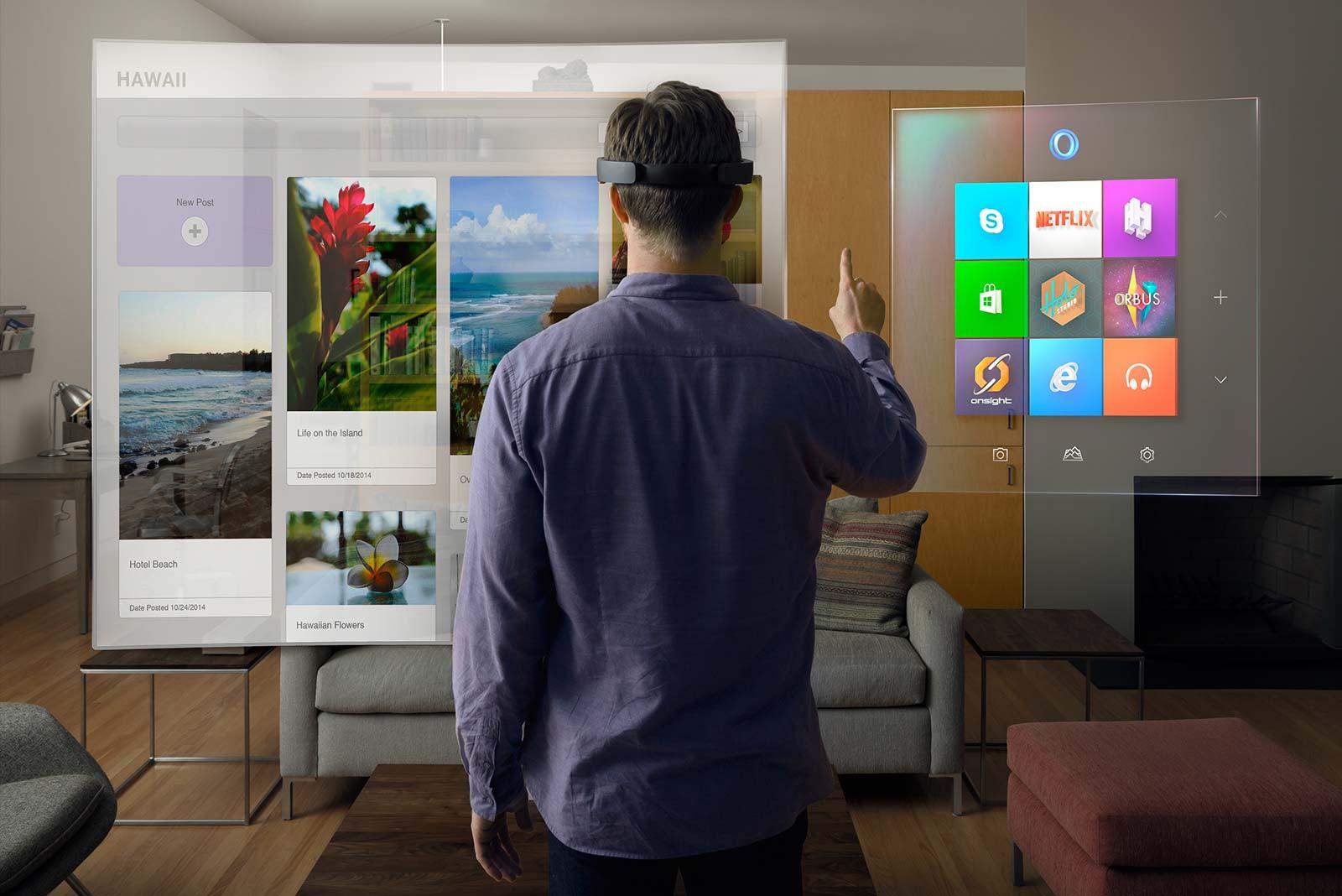 HoloLens Microsoft Réalité augmentée