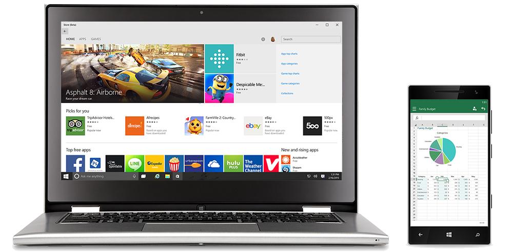 windows 10 app universelles