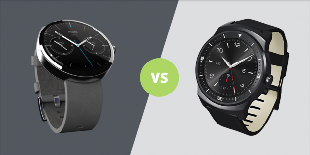 Moto 360 vs G Watch R