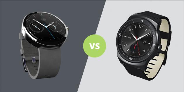 Moto 360 vs G Watch R