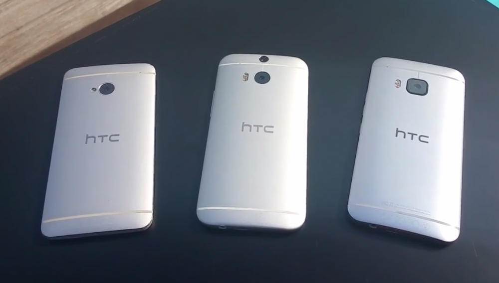 Dans l'ordre : HTC One M7, One M8 et One M9.