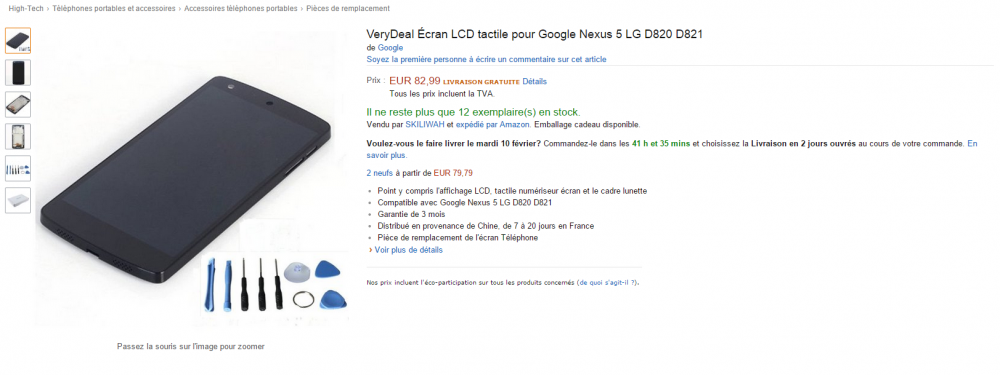 ecran nexus 5 amazon
