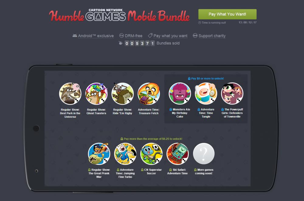 humble mobile bundle cartoon network