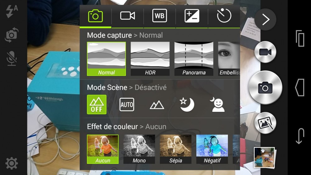 mode photo acer jade S