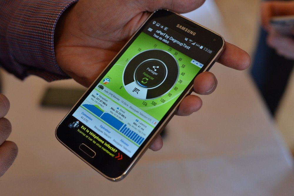 nPerf Bouygues 260Mbps