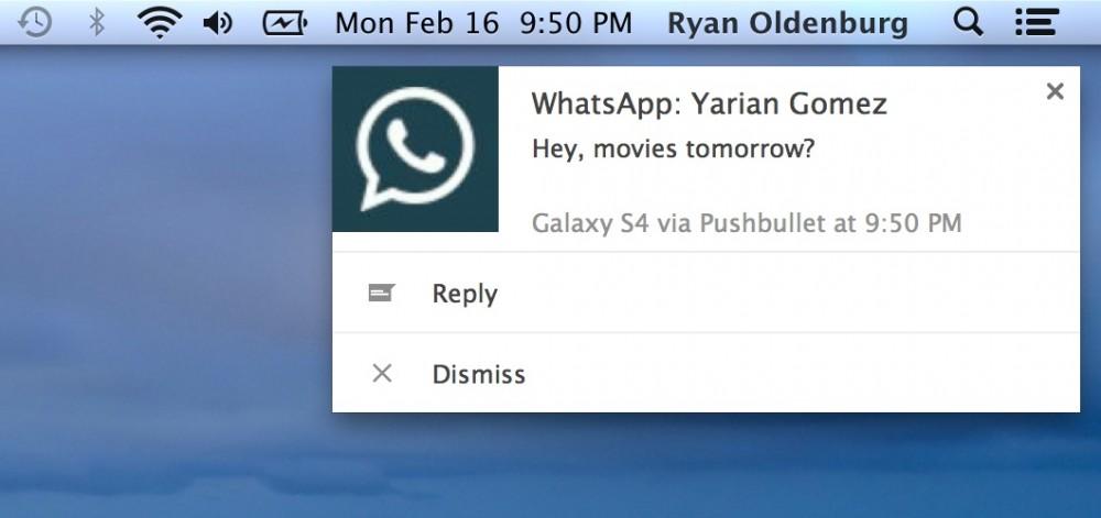 notification whatsapp pushbullet