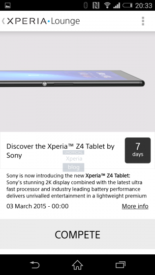 xperia z4 tablet leak xperia lounge