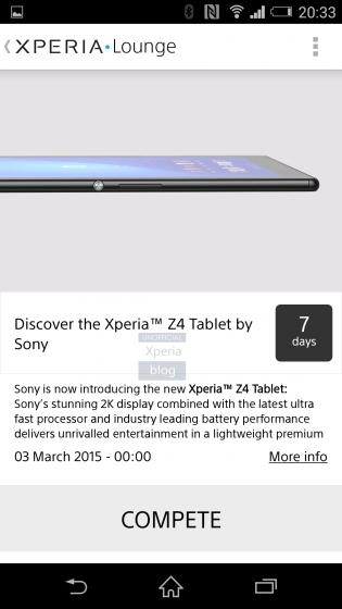 xperia z4 tablet leak xperia lounge