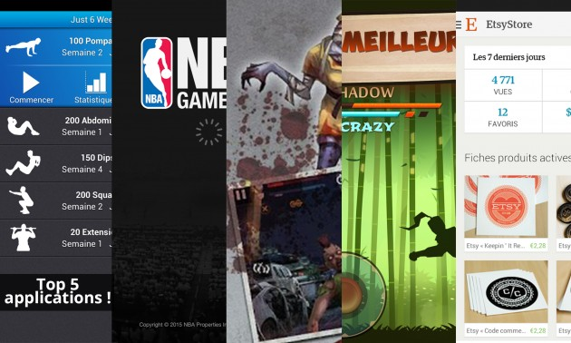 Les apps de la semaine : Just 6 weeks, NBA GAME TIME, Blood Zombies HD, Shadow Fight 2 et Etsy...