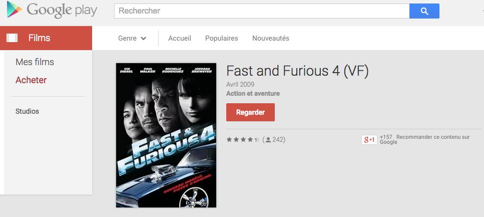 fast and furious 4 est gratuit sur le google play frandroid. Black Bedroom Furniture Sets. Home Design Ideas