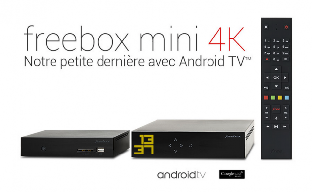 freebox mini 4k la box sous android tv de free pour 29 99 euros par mois frandroid. Black Bedroom Furniture Sets. Home Design Ideas