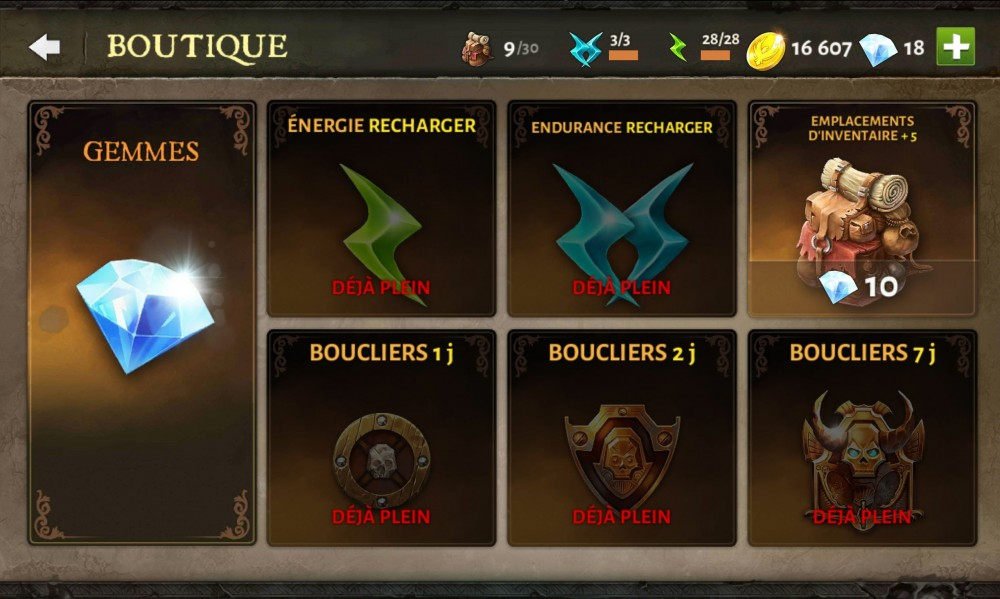 dungeon hunter 5 boutique
