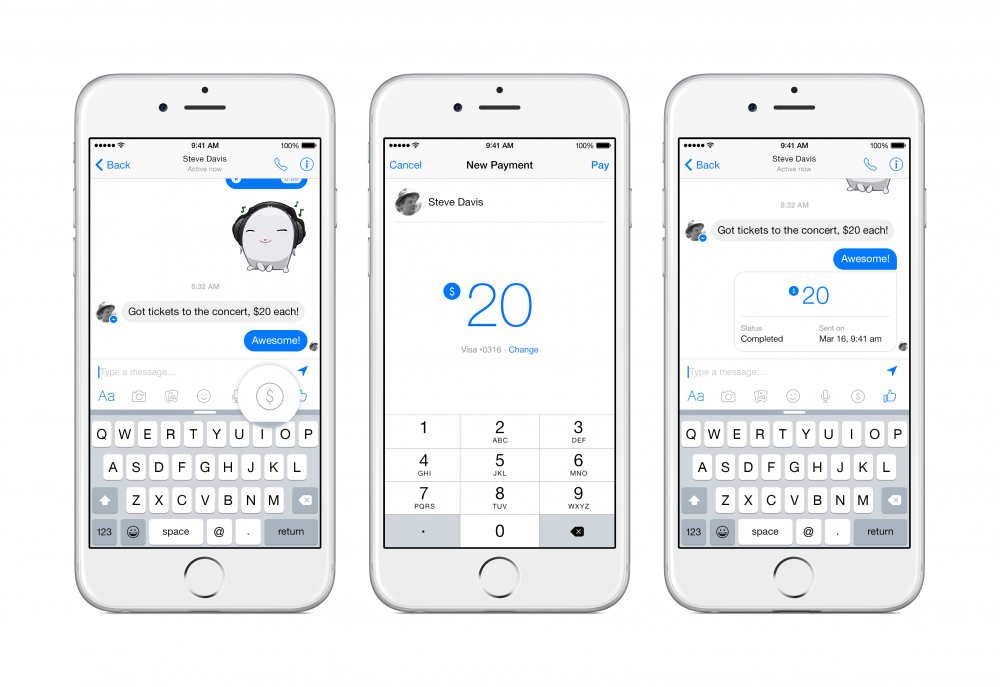 Facebook messenger permettra bient t d 39 envoyer de l argent for 10e chambre instants d audience