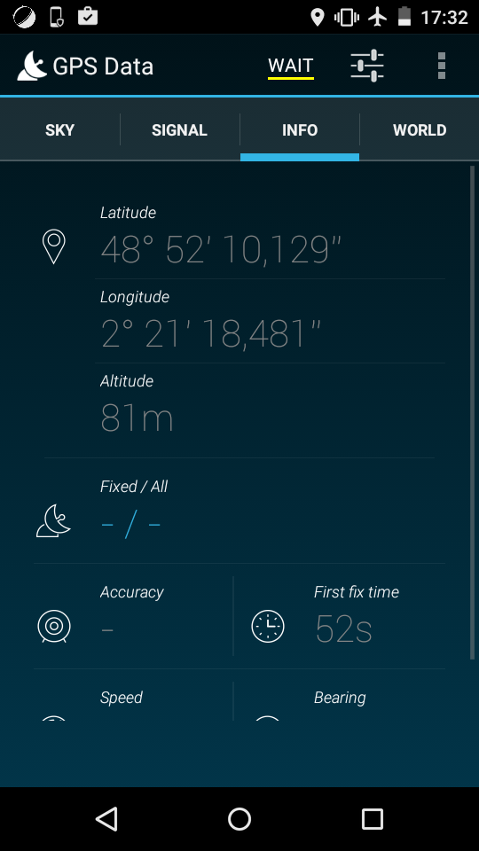 Moto E 4G GPS