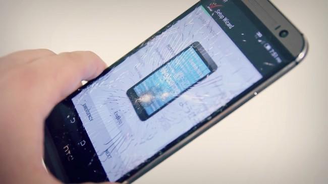 HTC One M8 avec écran brisé