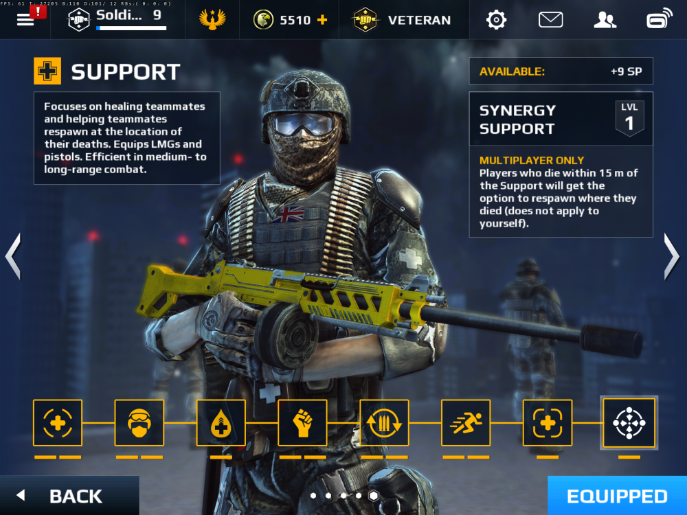 modern combat 5 f2p Support class