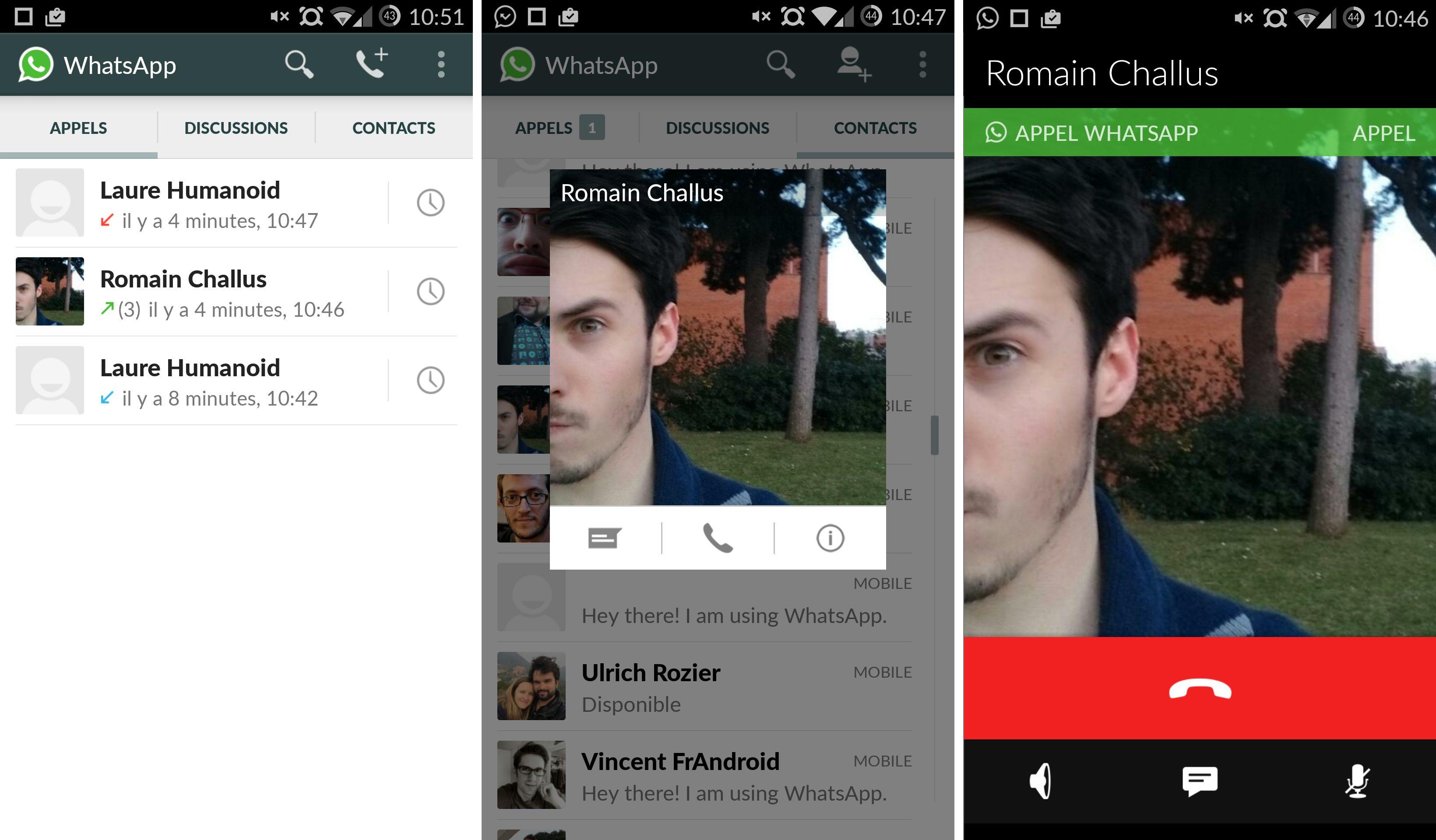 android applications  whatsapp la fonction dappel disponible pour tous