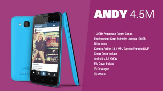 Yezz Andy 4.5M