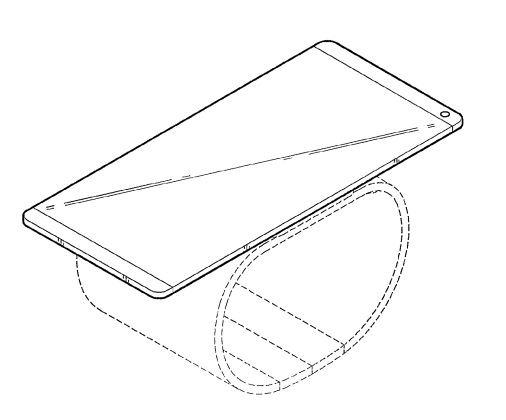 LG brevet smartphone pliable 01