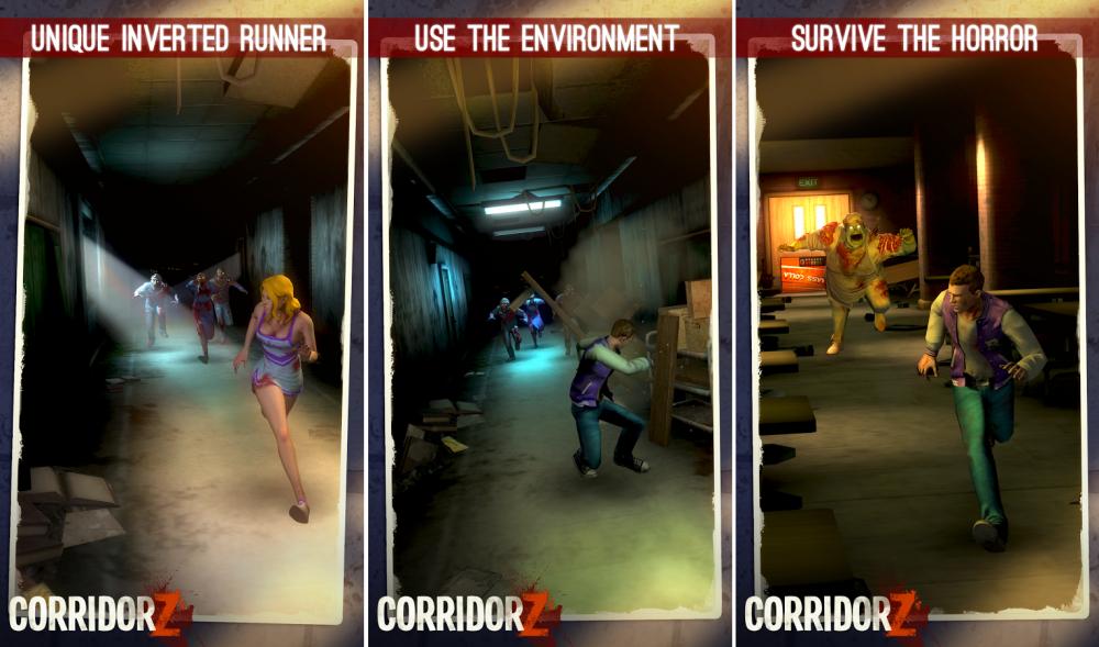 corridor z est une course poursuite originale et r ussie contre des zombies frandroid. Black Bedroom Furniture Sets. Home Design Ideas