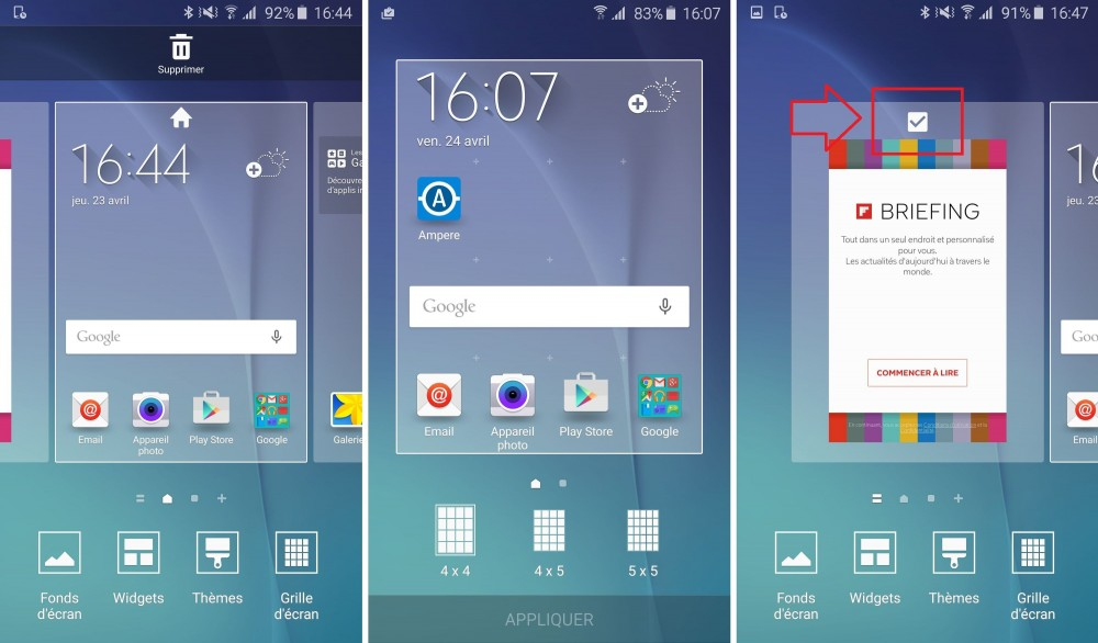 galaxy s6 launcher grille briefing