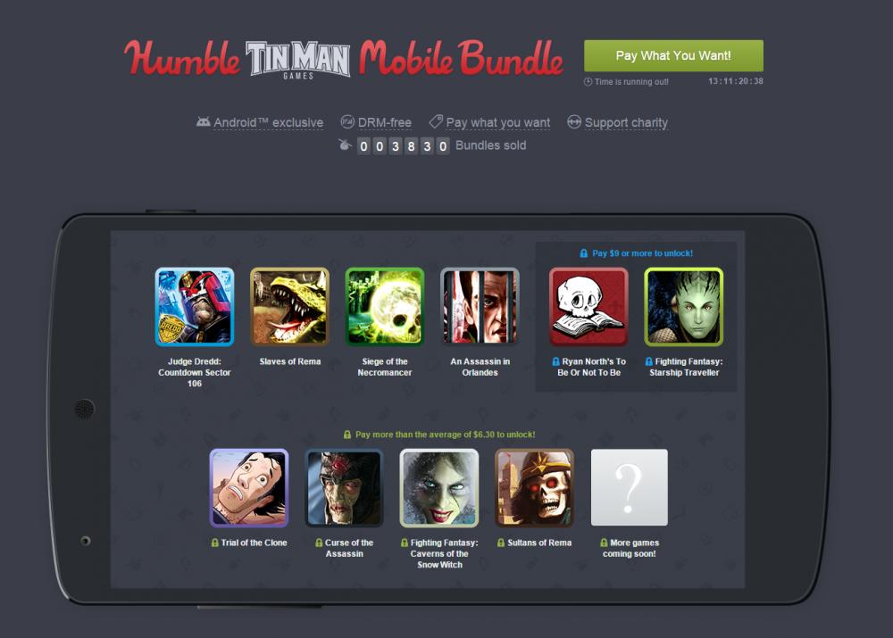 humble mobile bundle tin man games